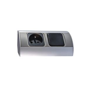 Möbel-Steckdose mit Schalter, 1x230V