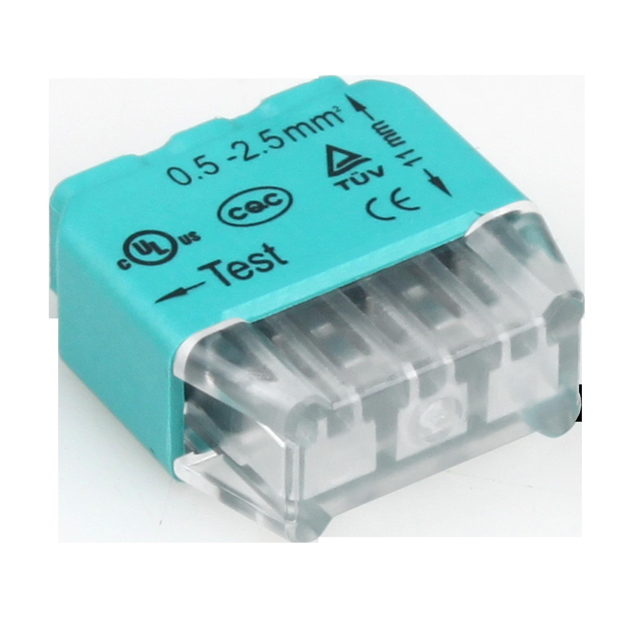 Złączka instalacyjna wciskana 3-przewodowa; Na drut 0,75-2,5mm²; IEC 300V/24A