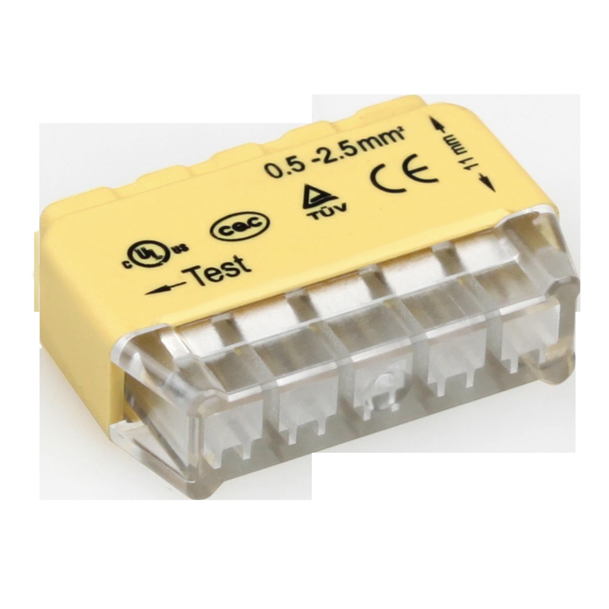 Złączka instalacyjna wciskana 5-przewodowa;Na drut 0,75-2,5mm²; IEC 300V/24A