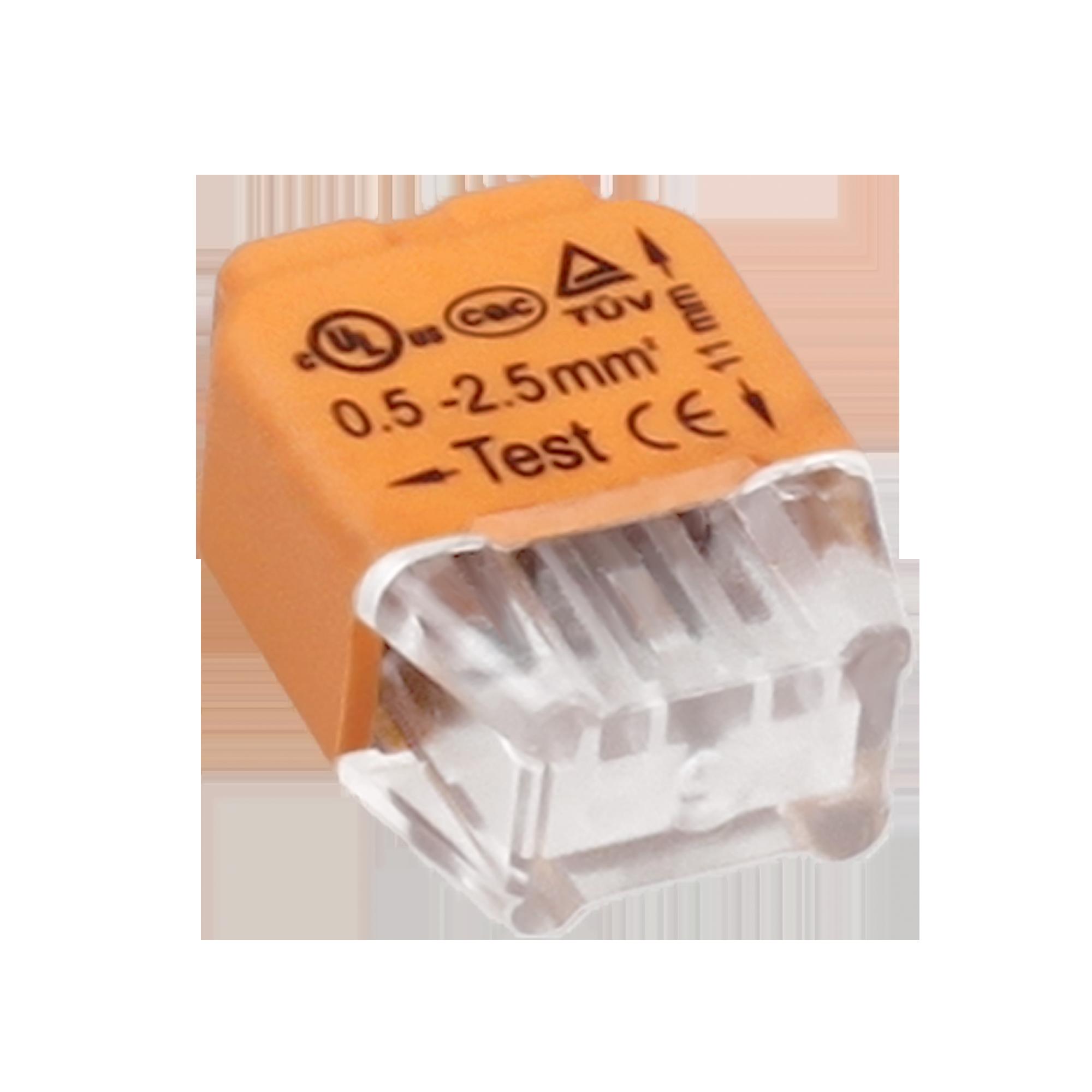 Złączka instalacyjna wciskana 2-przewodowa; Na drut 0,75-2,5mm²; IEC 300V/24A
