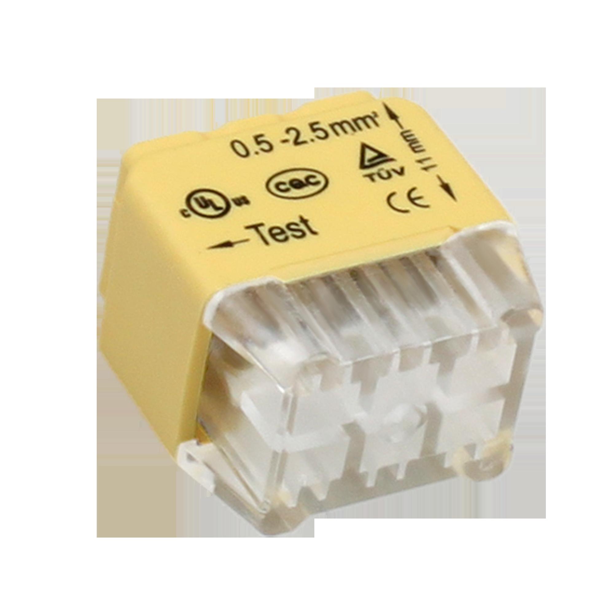Złączka instalacyjna wciskana 6-przewodowa; Dwurzędowa; Na drut 0,75-2,5mm²; IEC 300V/24A