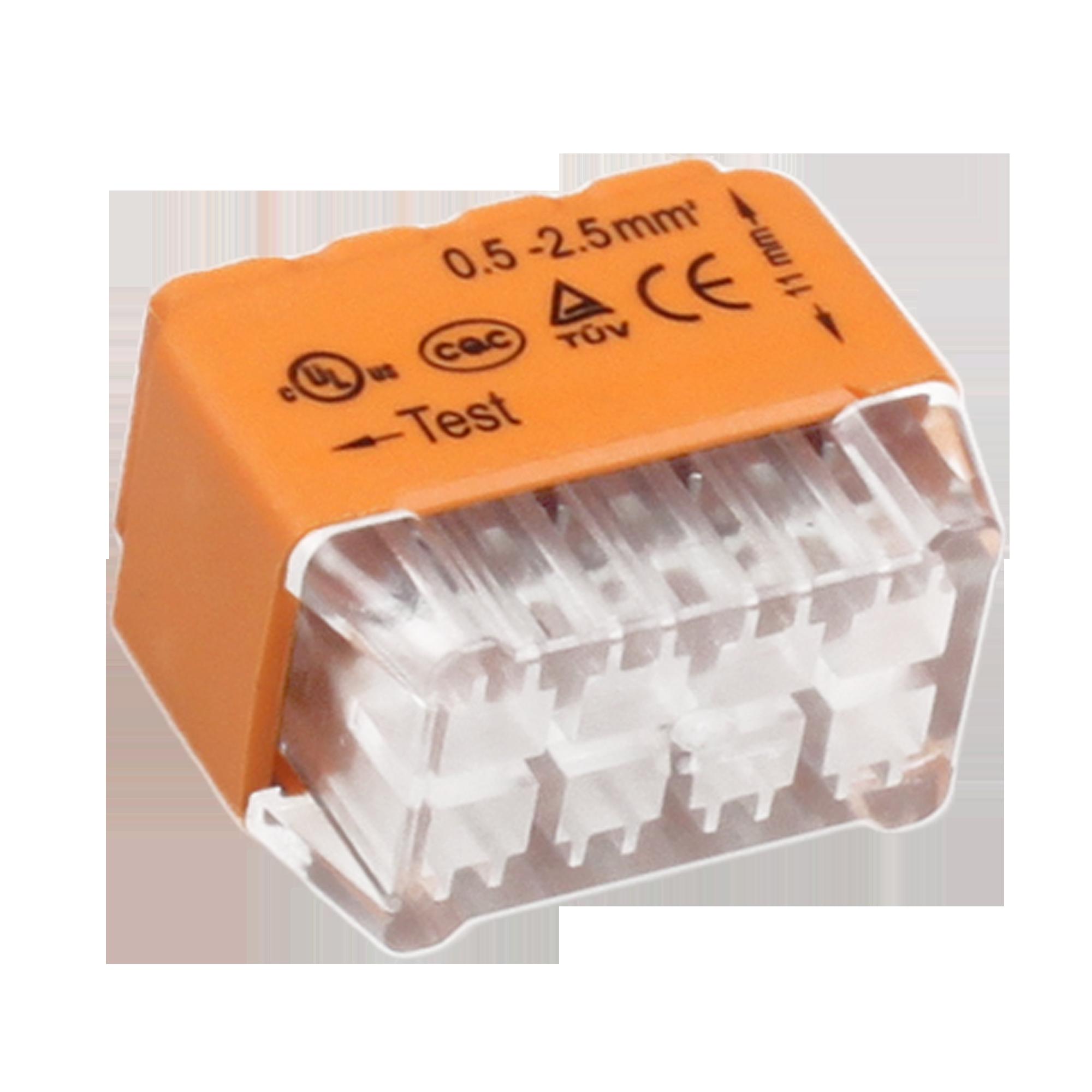 Złączka instalacyjna wciskana 8-przewodowa; Dwurzędowa; Na drut 0,75-2,5mm²; IEC 300V/24A