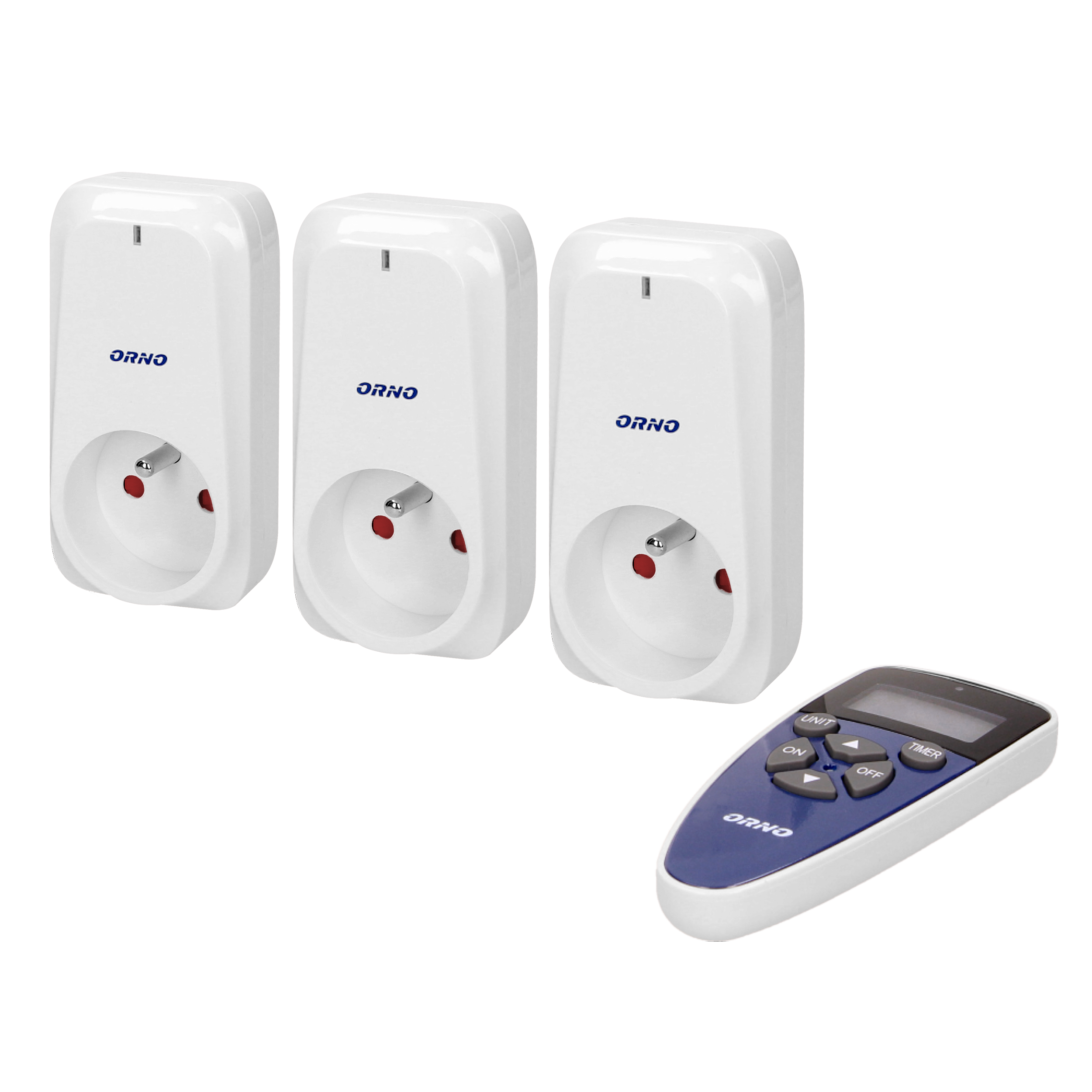 Wireless sockets with remote control and timer function 3+1