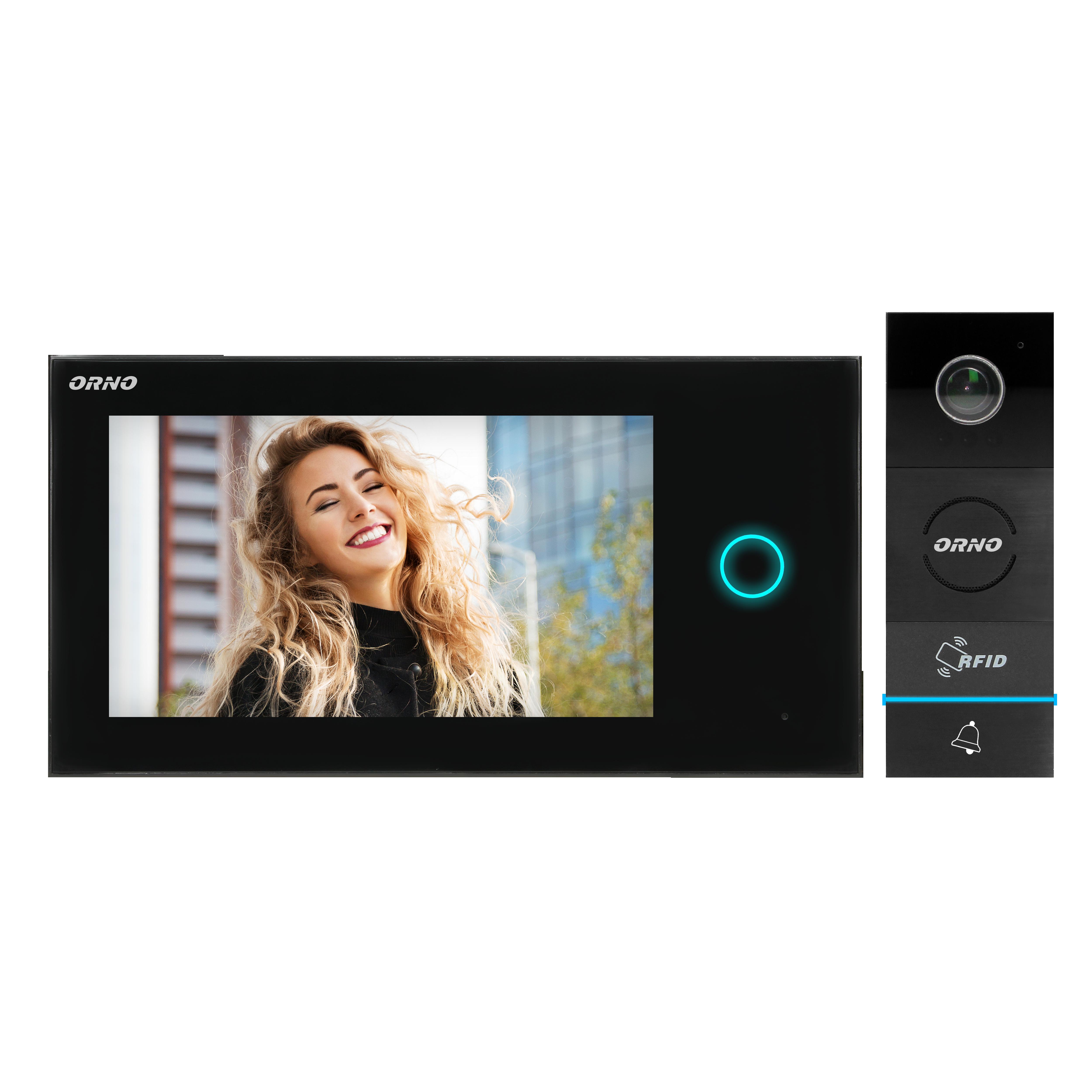 Zestaw wideodomofonowy, bezsłuchawkowy, kolor, LCD 7