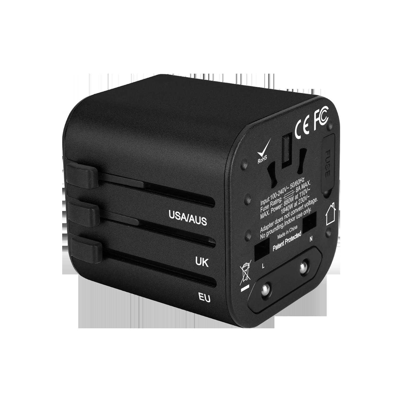GOworld uniwersalny adapter podróżny do ponad 200 krajów świata,  100-240V, 8A