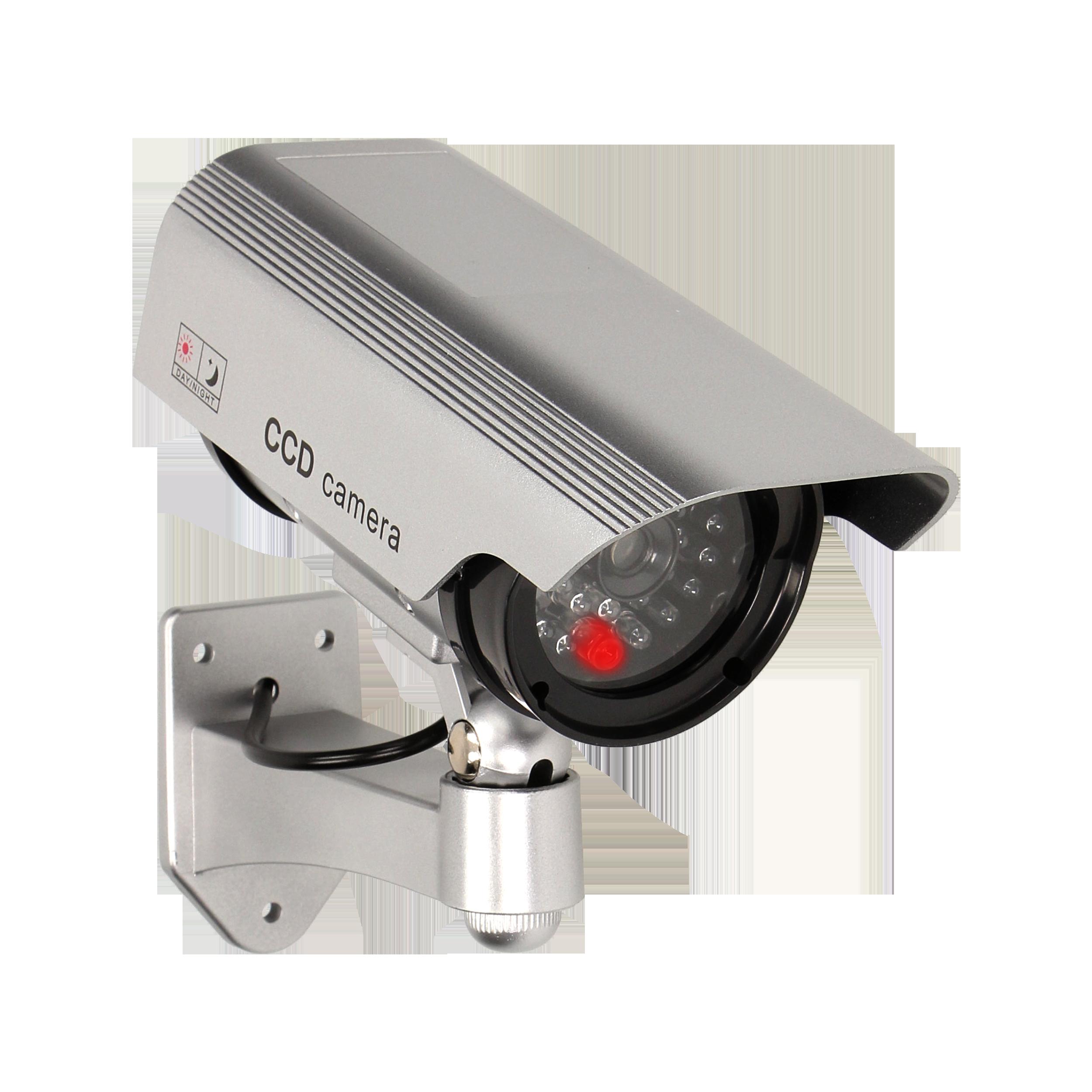Atrapa kamery monitorującej CCTV, bateryjna, srebrna
