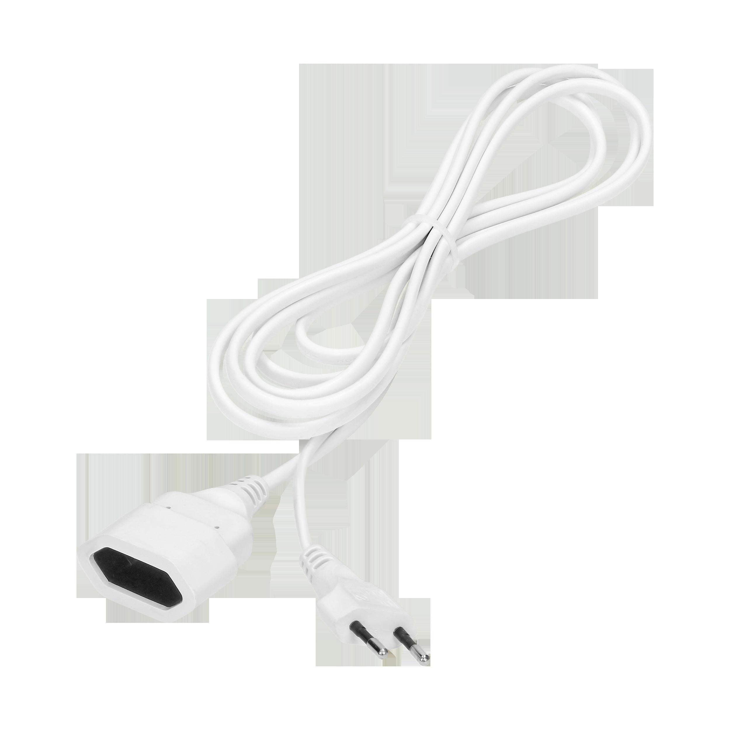 Przedłużacz domowy jednogniazdowy płaski, 1x2P, 1,5m,kabel PVC H03VV-F 2x0,75mm², 230VAC