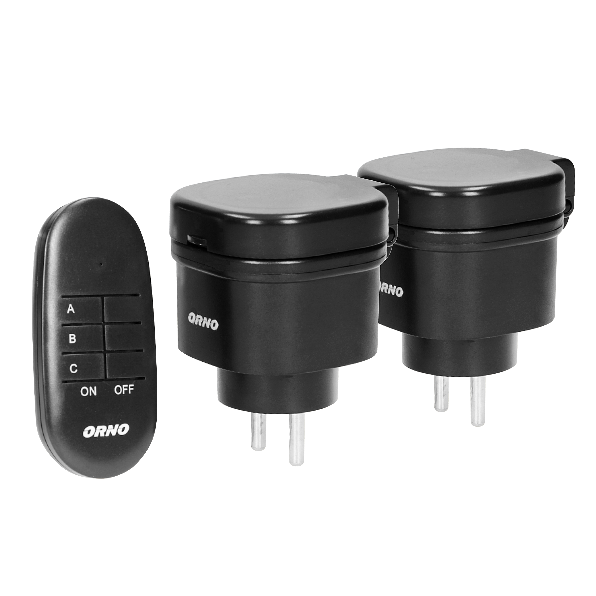 Outdoor mini wireless sockets with remote control, 2+1, IP44, Schuko