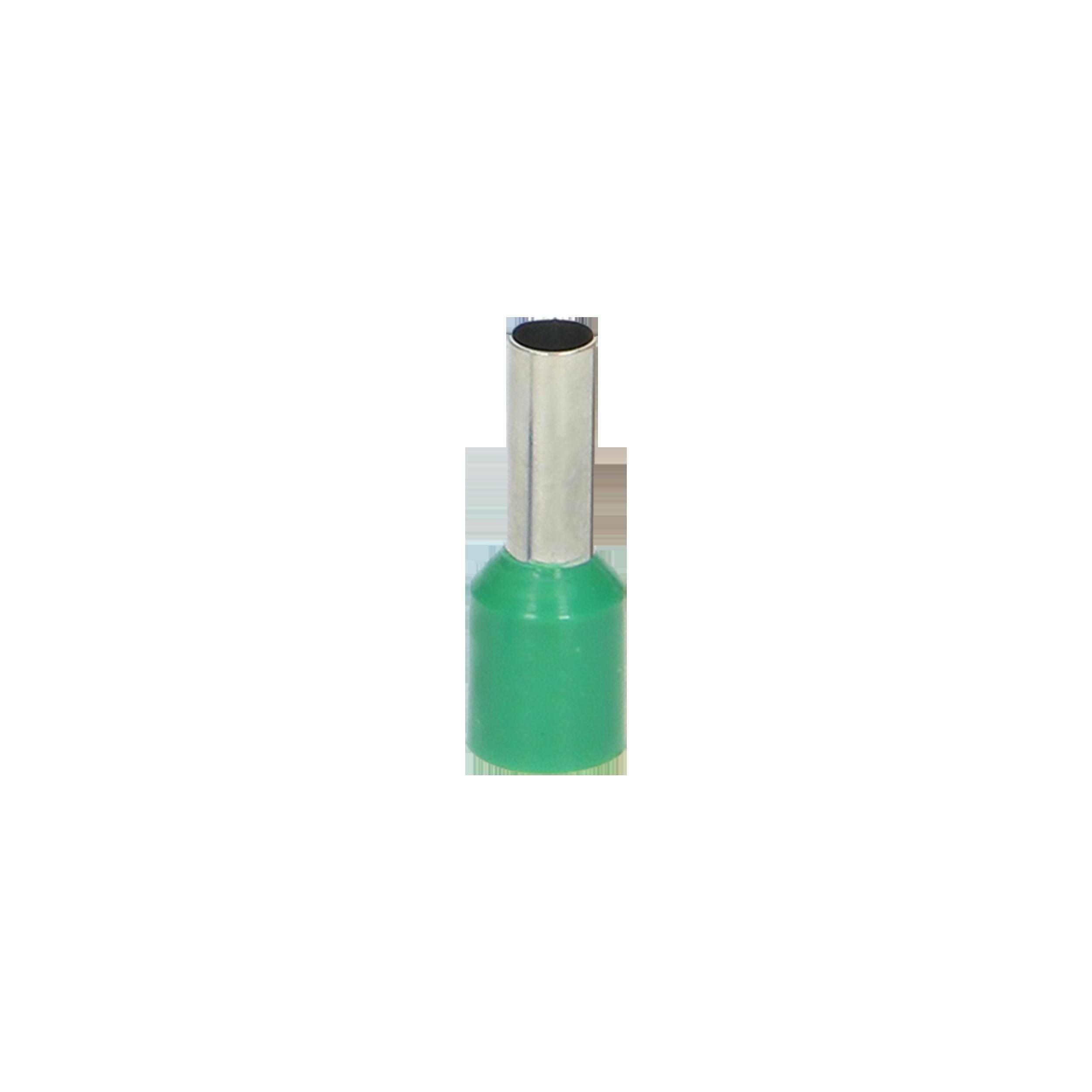Tulejka izolowana, przekrój maksymalny 6mm², długość  miedzianej tulejki 10mm, Blister 25 szt.
