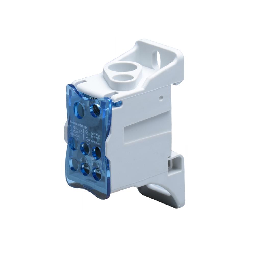Blok rozdzielczy 125A, zaciski wejściowe 1x16 i 1x35mm², zaciski wyjściowe 6x16mm²