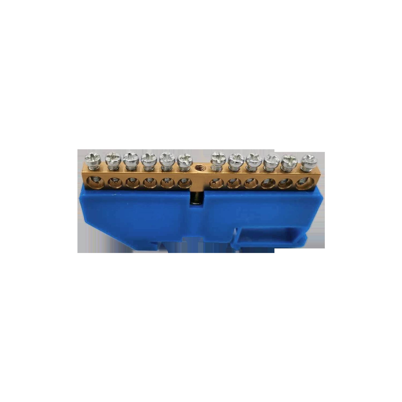 Listwa zaciskowa N, na szynę TH35, 12 przewodów, niebieska