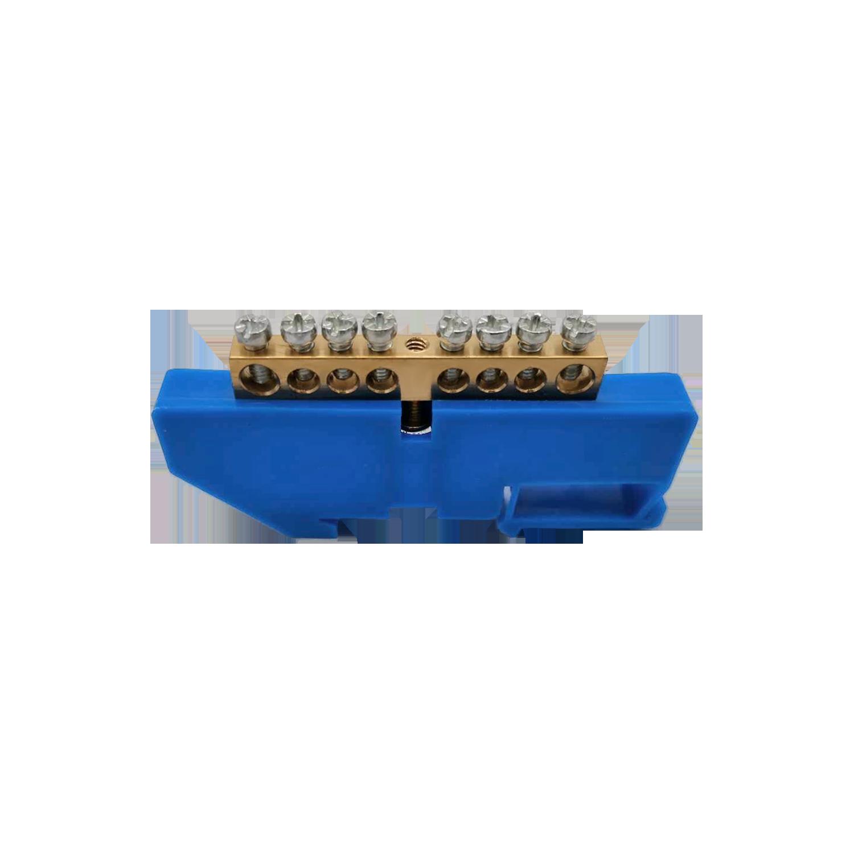 Listwa zaciskowa N, na szynę TH35, 8 przewodów, niebieska