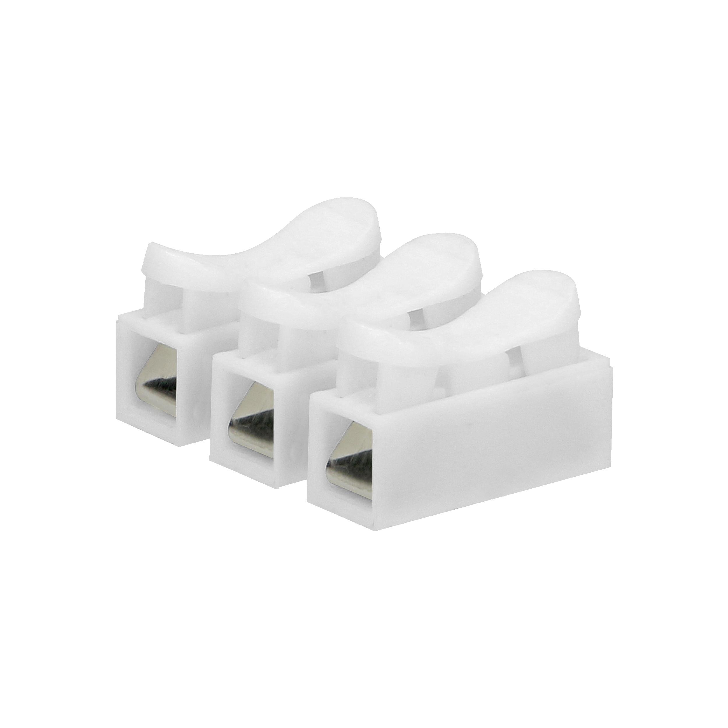 Złączka trzytorowa sprężynowa, 3x2,5mm², 10 sztuk